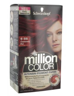 Schwarzkopf Million Color Intensiv-Pigment-Farbe 6-88 cashmere Rot (126 ml) - 4015000996785