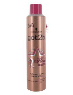 Schwarzkopf got2b Hochkaräter Volumen + Glanz Haarspray (300 ml) - 4015000979801