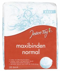 Jeden Tag Maxibinden normal (20 St.) - 4306188052876