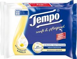 Tempo Feuchte Toilettentücher sanft & pflegend mit Kamille (2 x 42 Blatt) - 7322540433739