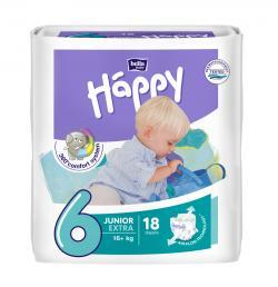 Bella Baby Happy Windeln Gr. 6 Junior Extra 16+kg (18 St.) - 5900516601218