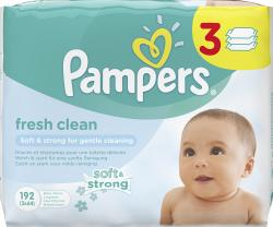 Pampers Fresh Clean Feuchttücher (3 x 64 St.) - 4015400583141