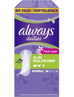 Always Slim Multiform Fresh scent Slipeinlagen normal (74 St.) - 4015400562870