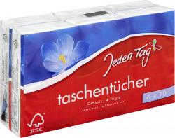Jeden Tag Taschentücher Classic (6 x 10 St.) - 4306188046066