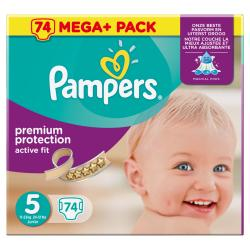 Pampers Premium Protection Active Fit Gr. 5 Junior 11-23kg (74 St.) - 4015400622543