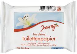 Jeden Tag Feuchtes Toilettenpapier sensitiv