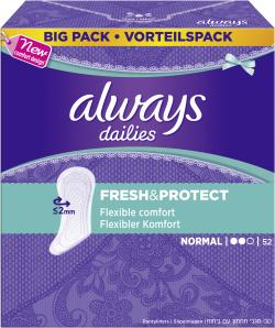 Always Slipeinlagen Fresh & Protect normal (52 St.) - 4015400669098