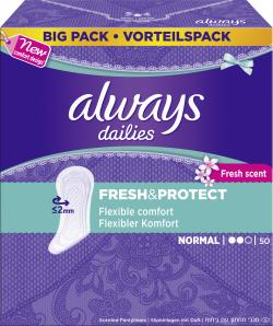Always Freshness Slipeinlagen normal (50 St.) - 4015400669067
