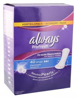 Always ProFresh Slipeinlagen für leichte Blasenschwäche large (40 St.) - 4015400669159