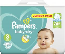 Pampers Baby Dry Windeln Gr. 3 Midi 4-9kg (90 St.) - 4015400695615