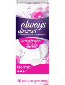 Always Discreet Inkontinenz Slipeinlagen Normal