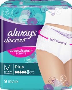 Always Discreet plus Pants Gr. M (9 St.) - 4015400628767