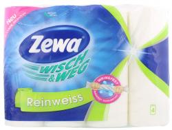 Zewa Wisch & Weg reinweiß (4 x 45 Blatt) - 7322540767933