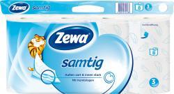 Zewa Samtig Toilettenpapier 3-lagig (8 x 140 Blatt) - 7322540745788