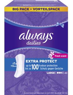 Always Extra Protect fresh sent Slipeinlagen large (40 St.) - 4015400742876