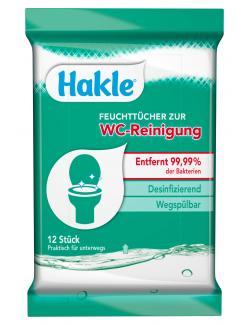 Hakle Feuchttücher zur WC Reinigung (12 St.) - 4260344220458