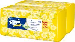 Tempo Plus Taschentücher Balsam Kamille und Aloe Vera (2 x 70 St.) - 7322540788204