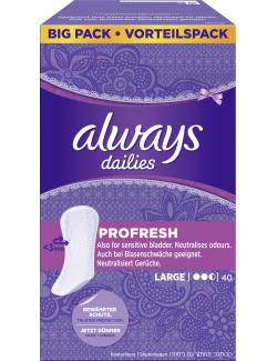 Always Dailies Slipeinlagen ProFresh large