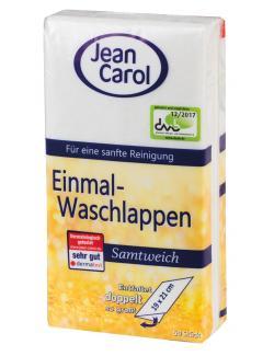 Jean Carol Einmal-Waschlappen samtweich