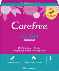 Carefree Slipeinlagen Cotton Frischeduft Gr. S/M