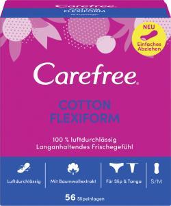 Carefree Slipeinlagen Cotton Flexiform Gr. S/M