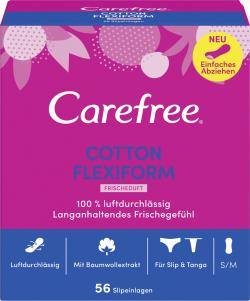 Carefree Slipeinlagen Cotton Flexiform Frischeduft Gr. S/M