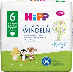 Hipp Babysanft Windeln Größe 6 Extra Large 15kg+