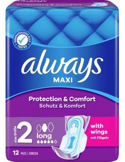 Always Binden Maxi Long mit Flügeln