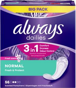 Always Dailies Fresh & Protect Normal Fresh Slipeinlagen