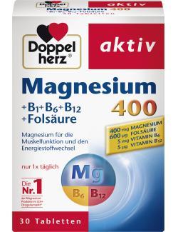 Doppelherz aktiv Magnesium 400 + B1 + B6 + B12 + Folsäure
