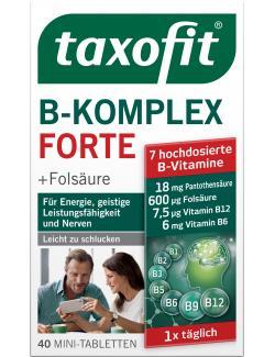 Taxofit Vitamin B-Komplex forte + Folsäure