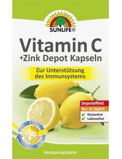 Sunlife Vitamin C + Zink Depot Kapseln