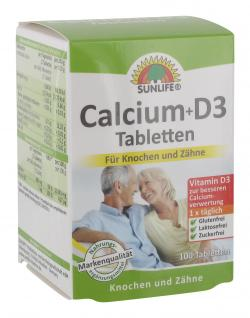 Sunlife Calcium + D3 Tabletten (100 St.) - 4022679108661