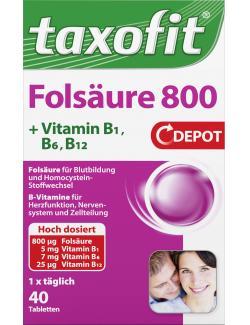 Taxofit Folsäure 800 - 4008617036005