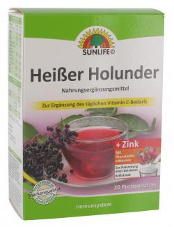 Sunlife Heißer Holunder + Zink Portionssticks (20 St.) - 4022679113047