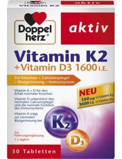 Doppelherz Aktiv Vitamin K2 + Vitamin D3 1600 I.E.