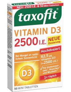 Taxofit Vitamin D3 2500 I.E. Mini-Tabletten