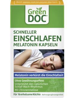 Green Doc Schneller Einschlafen Melatonin Kapseln