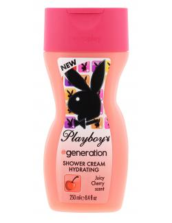 Playboy Generation Shower Cream Hydrating juicy cherry scent (250 ml) - 3614220020501