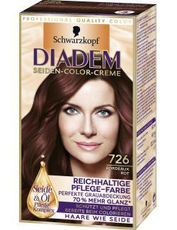 Schwarzkopf Diadem Seiden-Color-Creme bordeaux rot 726 (142 ml) - 4015001010305