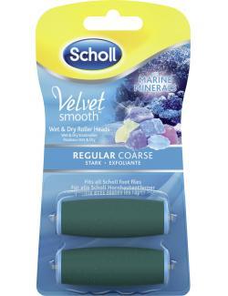 Scholl Velvet Smooth Wet & Dry Ersatzrollen stark mit Meeresmineralien