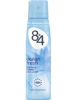 8x4 Ocean fresh Deo Spray (150 ml) - 4005900185075