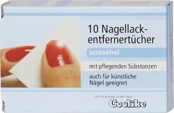 Coolike Nagellackentfernertücher (10 St.) - 4010054004233