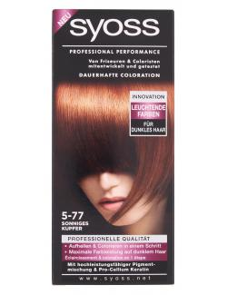 Syoss Professional Performance Coloration 5-77 sonniges Kupfer (115 ml) - 4015001005929