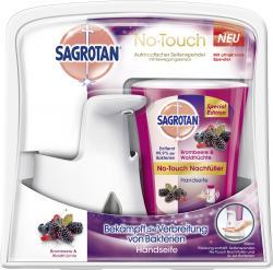 Sagrotan No-Touch Spender + Handseife Brombeere & Waldfrüchte (250 ml) - 4002448092445