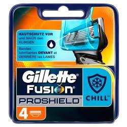 Gillette Fusion Proshield Chill Klingen (4 St.) - 7702018389575