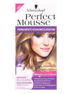 Schwarzkopf Perfect Mousse Schaumcoloration 850 karamell-blond (93 ml) - 4015001013177