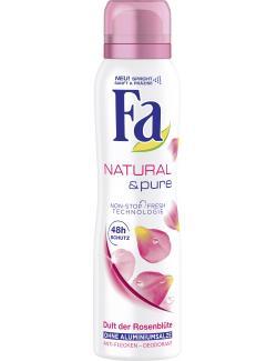 Fa Natural & Pure Deospray Duft der Rosenblüte