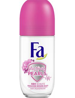 Fa Active Pearls Deo Roll-On Frischer Rosen-Duft (50 ml) - 4015100009590