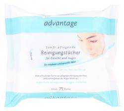Advantage Reinigungstücher für trockene und sensible Haut (25 St.) - 4000851019547